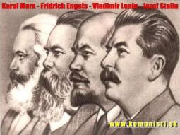 Karl Marx, Friedrich Engels, Vladimir Lenin, Joseph Stalin