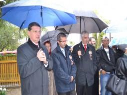 senatorul Gabriel Berca, presedintele CJ, Dragos Benea si senatorul Vasile Nistor