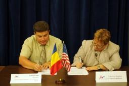 Gabriel Stan, la semnarea memorandumului cu Ambasada SUA