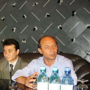 Romeo Stavarache si Traian Basescu -2004