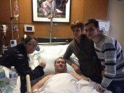 Florinel Enache si familia la spitalul Walter Reed din Bethesda, Maryland