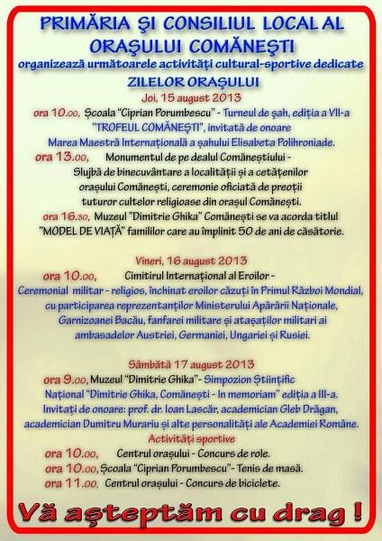 Afisul Zilelor Orasului Comanesti (1)