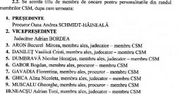 CSM, membri de onoare UNBR Botomei