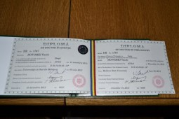 Diploma de Doctor a lui Vasile Botomei (2)