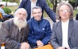 regizorul Silviu Fusu, pictorul Valentin Maslov si actorul Sandu Cupcea