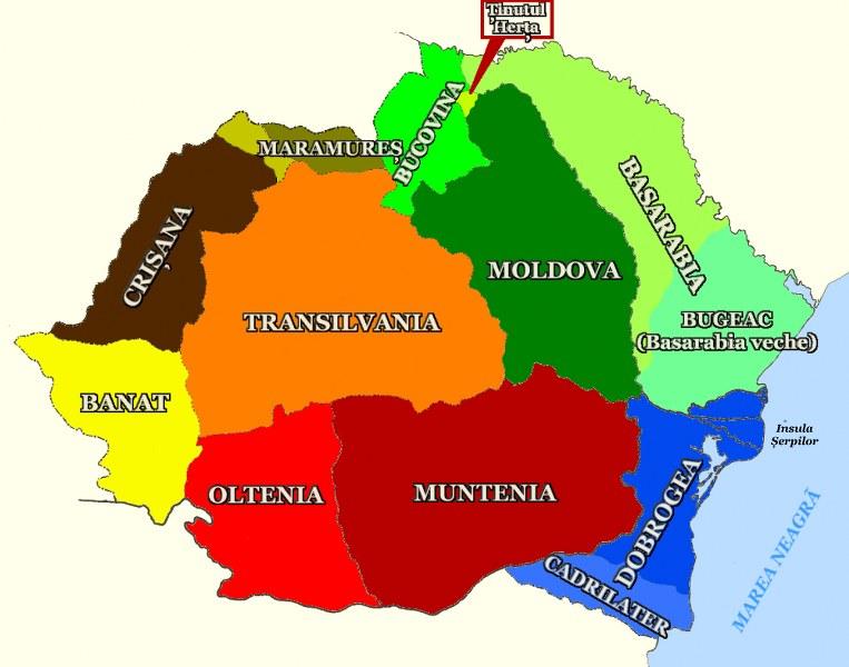 Romania Mare si regiunile ei