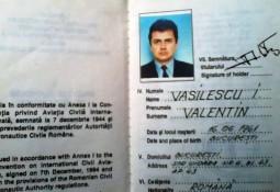 Valentin Vasilescu, legitimatie