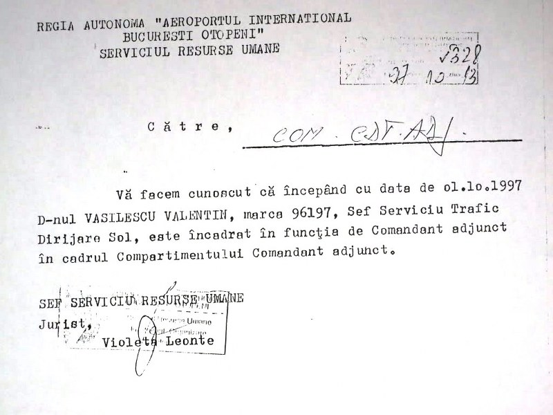 comandant adjunct Valentin Vasilescu