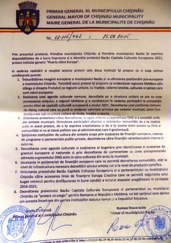 protocol Bacau Chisinau