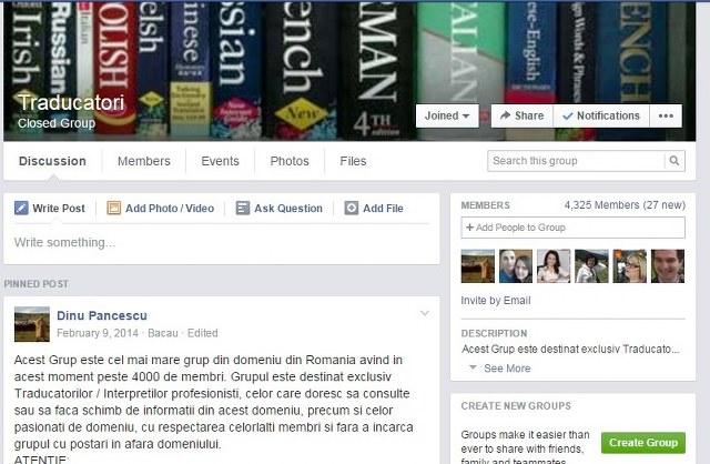 grup traducatori facebook