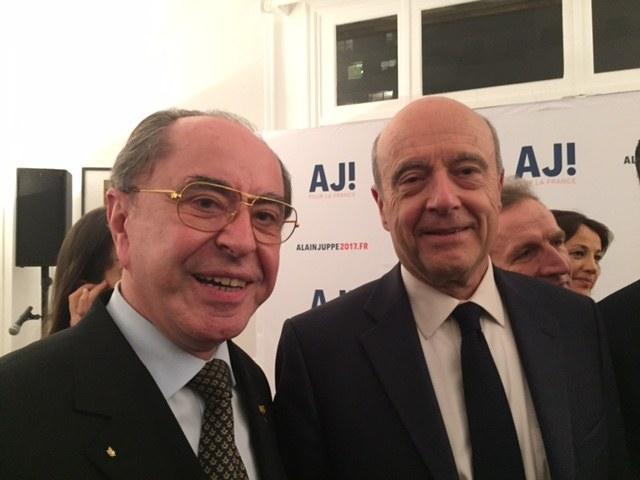 Bartolomeu Savoiu si Alain Juppe (Paris-17 martie 2016)